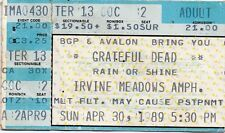 GRATEFUL DEAD TICKET STUB  04-30-1989  IRVING MEADOWS AMPH