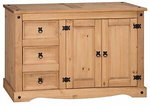 Corona Sideboard Low 2 Door 3 Drawer Solid Mexican Pine by Mercers Furniture®
