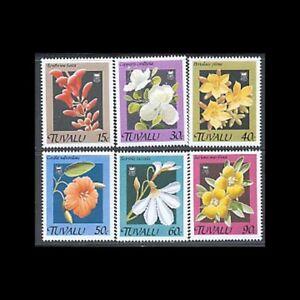 TUVALU, Sc #549-54, MNH, 1990, Flowers, Flora, Plants, A5III-A