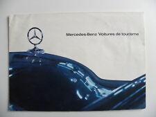 Brochure MERCEDES - BENZ voitures de tourisme de 1963