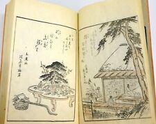 MATSUKAWA HANZAN Livres Illustrés GRAVURES sur bois Période Edo JAPON