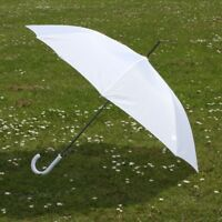 "40"" UMBRELLA WITH PLASTIC CROOK HANDLE - AUTOMATIC CLASSIC WEDDING GENTLEMENS"