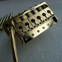 Brass PRS Style Tremolo Bridge Complete Install Kit For PRS Custom CE Gold