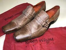 Robert Wayne Men's Leather Shoes Western Brown Size 10 / 43