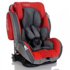 Auto-Kindersitz GT Isofix 9-36 kg Gruppe 1 2 3 Rot Grau | mit Schlafposition