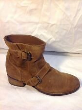 Pull&Bear Brown Ankle Suede Boots Size 36