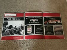 Vintage WINSTON CIGARETTES RACING PROMO 10-PAGE Brochure Print Ad 2000 RARE