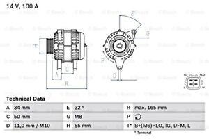 BOSCH Alternator 14V For TOYOTA Auris Avensis Corolla Rav 4 III 0986082350
