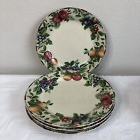 Sakura Sonoma Stoneware Dinner Plates Dinnerware SET of 4 Oneida Excell Fruit
