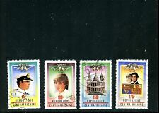 LOT 80836 USED 457 - 460  CENTRAL AFRICA STAMPS : PRINCESS DIANA