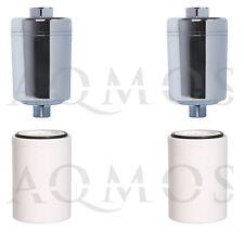 2 Duschfilter Chrom + 2 Wechselfilter Filter Kalkfilter Dusche Bad Hautpflege