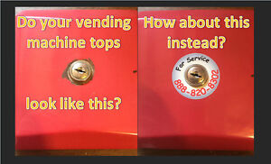 6 Lock Toppers Stickers Bulk Vending Key Lock Contact Service