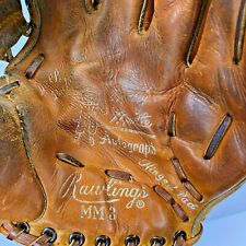 Rawlings MM3 Baseball Glove Mitt Mickey Mantle Autograph Edition Vintage