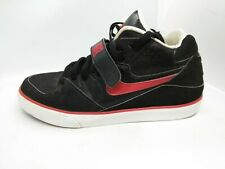 Mens Nike Size 9.5 Auto Force 180 Mid 375579-061 Black Red White Sneakers Shoes
