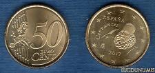 Espagne - 2017 - 50 Centimes D'Euro - Pièce neuve de rouleau - Spain