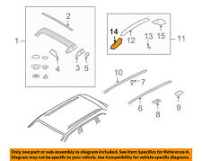 PORSCHE OEM Cayenne Roof Rack Rail Luggage Carrier-Front Support 95555937700