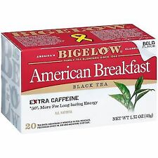 Bigelow Tea Black American Breakfast 20 bags pack of 6