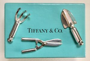 Tiffany & Co. Sterling Silver Miniature Doll House Garden Gardening Tool Set