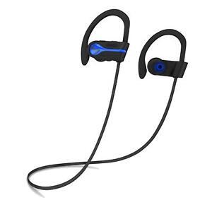 SENSO Bluetooth Headphones Best Wireless Sports Earphones w/Mic IPX7 Waterproof