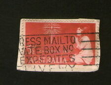 POSTAGE STAMP : AUSTRALIA : CHRISTMAS 1957 - THREE & HALF PENCE -