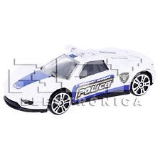 Coche Deportivo Policía Juguete Blanco Escala 1:64 ¡Envío desde ESPAÑA! j100