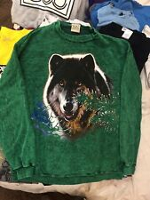 Vintage Habitat Oregon Lone Wolf Sweatshirt Rare XL