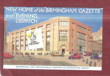 New home f The Birmingham Gazette & Evening Dispatch Advert Advertising Postcard