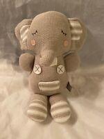 "Infant Baby Toy Gray Theodore Elephant Plush Rattle Stuffed Animal 13"""