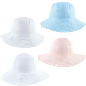 Baby Sun Hat Summer Cotton Bucket Wide Brim Floppy Hats Boy Girl Toddler 0-4 Yrs