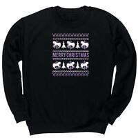 Merry horse christmas unisex jumper sweatshirt pullover