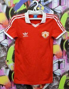 Manchester United FC Football Shirt Soccer Jersey Top Adidas 2015 Mens size XS