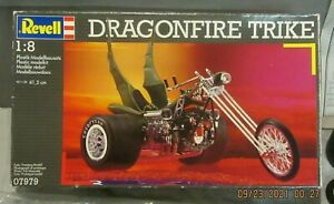 RARE REVELL DRAGONFIRE TRIKE LARGE SCALE , SUPER RARE , INVENTORIED COMPLETE KIT
