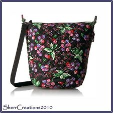 NWT Vera Bradley Carson Hobo Shoulder Crossbody Bag in Winter Berry #180428-254