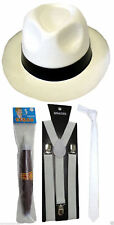 GANGSTER PIMP FANCY DRESS BRACES TIE HAT CIGAR 1920s COSTUME ROARING FANCY DRESS