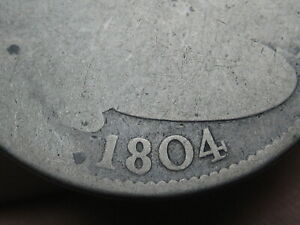 1804 Draped Bust Quarter- 6,738 Minatge, Full Date