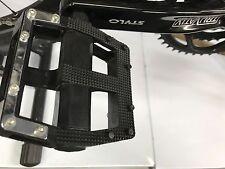 9/16''- Wide Bike Pedals MTB Road BMX Black Cycling Flat Cage Platform