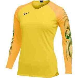New Womens Nike Gardian II GK Goalkeeper Jersey Total Yellow/Gold MSRP $80