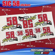 Set n.8 adesivi SIC 58 Simoncelli SuperSic SIC3