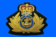 RFA Royal Fleet Auxilliary Supply Ship Officer Captain Hat Cap Badge Patch HMS