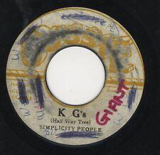 """Simplicity People – KG,s (Half Way Tree) ORIG JA 7"""" 1973 Augustus Pablo GUSSIE"""