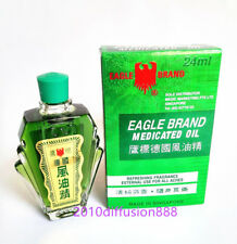 New!!! Eagle Brand Medicated Oil 鷹標德國風油精 Pain Relief Dau Xanh Con O 24ml