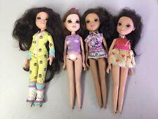 MGA Moxie Girlz Dolls Big Eyes Brown Hair Lot Of 4 Retired Discontinued