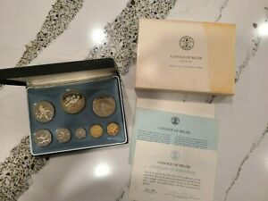 Coinage of Belize 8 pc 1974 Proof Set, Franklin Mint issued 21,470 sets