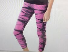 NUX USA Legging V-ANKLE PANTS  Tie Dye Size SMALL P068 Active wear NWT