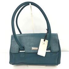 New Fiorelli Handbag Teal Blue Faux Leather Croc Print Shoulder Bag Smart 281891