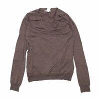 Gap Womens Size M Merino Wool Blend Brown Long Sleeve T-Shirt (Regular)