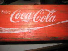 2 red wood coke crates 1973 chattanooga