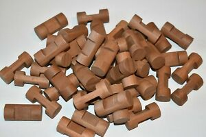 """Lincoln Logs Replacement Parts Small Single 1 Notch Logs 1.5"""" Lot of 47"""
