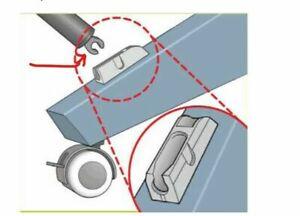 HP Designjet T610 T770 T790 T1100 T1200 T1300 T2300 Z3200 Z5400 paper tray Clip