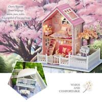 Mini Loft Wooden 3D Dollhouse DIY Kit Realistic House Room Toy Furniture Gift